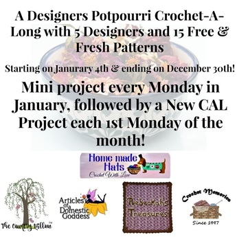 A New Year and Endless Crochet FUN - A Designers Potpourri CAL @countrywillow12