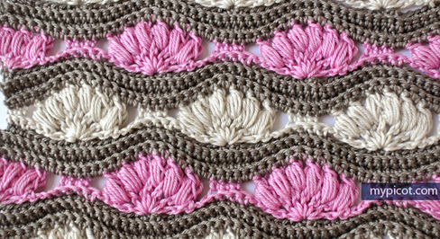 Tutorial Tuesday - Crochet Ripple Puff Stitch with My Picot @countrywillow12