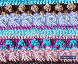 Tuesday Tutorial - Multi Colored long loop Stitch with My Picot @countrywillow12