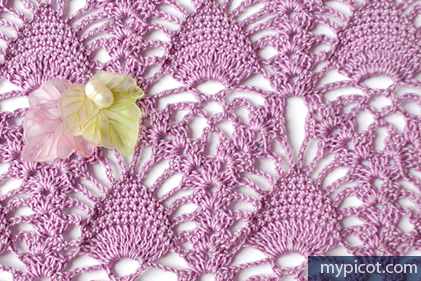 Tutorial Tuesday - Lace Pineapple Crochet Stitch - My Picot