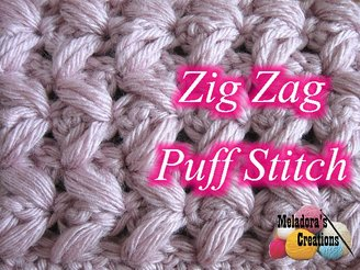 Tutorial Tuesday - Zig Zag Puff Stitch - Meladora's Creations @countrywillow12