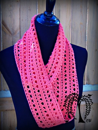 Free Crochet Infinity Chain Scarf Pattern : Spring Kisses Infinity Scarf- Free Crochet Pattern - The ...