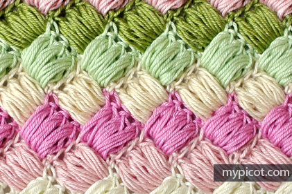 Tutorial Tuesday - Crochet Boxed Puff Stitch - My Picot