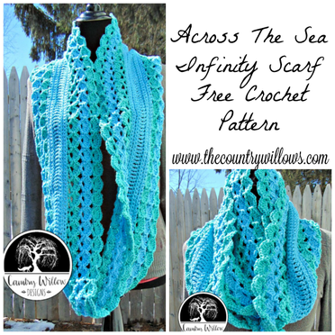 Across The Sea Crochet Scarf