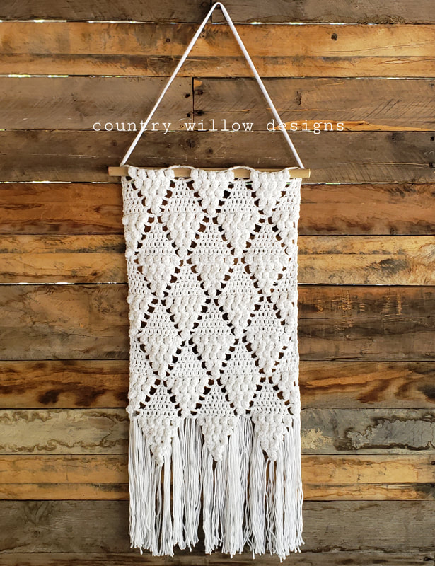 Crochet Popcorn Wall Hanging - Country Willow Designs