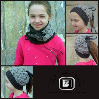 TWIZZLERS HAT/COWL /PONYTAIL FREE CROCHET PATTERN