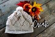 Popcorn Crochet Fall Hat designed by Country Willow Designs. The hat features popcorn stitch and dc creating very beautiful texture.