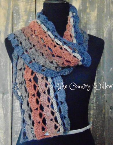 Wayward Scarf-Country Willow Designs