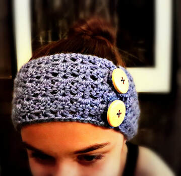 THREE'S AND V'S Ear Warmer by Sheri @ The Country Willow