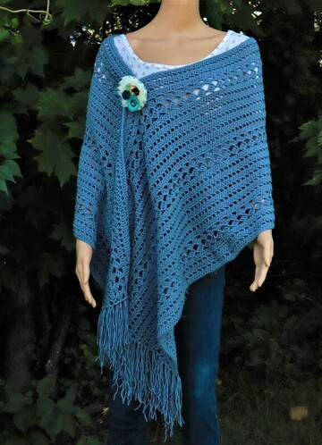 A Crochet Wrap Pattern designed by Country Willow Designs
