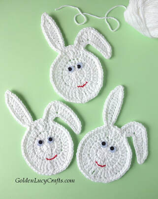 Crochet Easter Bunny Eggs from Golden Lucy Crafts