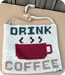 Drink Coffee Bag http://www.ravelry.com/patterns/library/drink-coffee-the-bag