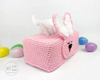 Easter Bunny Tissue Box Cover from Joy To The World Creations
