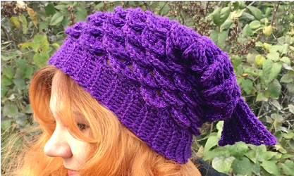 Mermaid Slouchy Hat from Craft Kitty Crochet