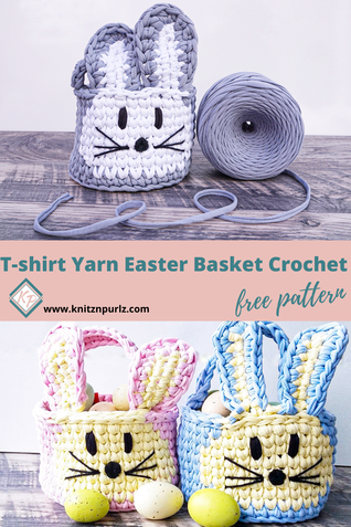 T-Shirt Yarn Easter Basket from KnitznpurlzPicture
