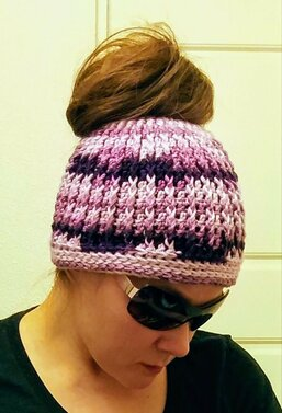 Messy Bun Hat from Handmade by Raine